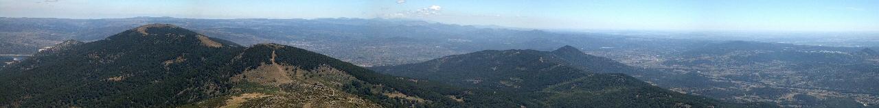 Panorámica hacia Madrid