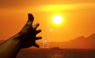 Horas de sol calculadas con la mano