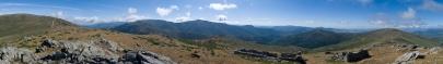 Panoramica de la Sierra de Ayllon desde el Cordal de la Sierra Cebollera
