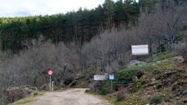 Entrada a la pista forestal