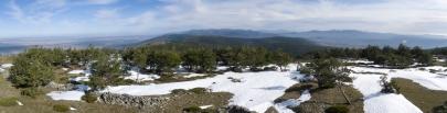 Panoramica hacia el norte de la Peña Berrocosa