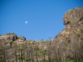 Luna y Rocas